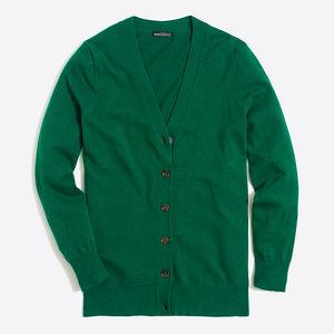 Green, V-Neck Cardigan